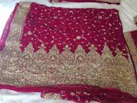 Beautiful maroon & gold sari hardly worn