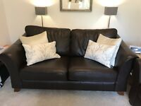 M & S Leather sofa bed
