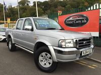 2004 54 Ford Ranger 2.5 TDdi XLT Double Cab Crewcab pick up Turbo Diesel 4x4 Jeep Low Miles