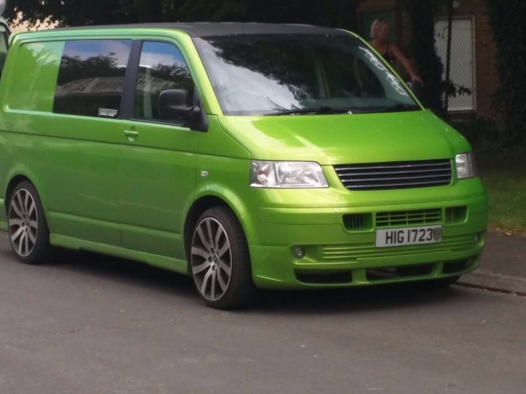 vw transporter t5 1 9 tdi swb awesome viper green day van surf bus in sittingbourne kent. Black Bedroom Furniture Sets. Home Design Ideas