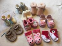 Baby Girls Shoes 0 To 0-3-6 Months Bundle 9 Items New And Used £12