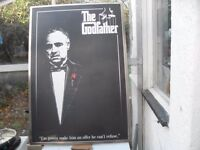 A RARE EXAMPLE FROM THE GODFATHER FILM POSTER IN HARDFRAME FULL SIZE