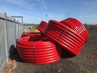 750m of coiled 125mm diameter SDR11 Emtelle duct / pipe