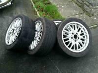 "BMW 17"" MV1 alloy wheels sey of 4"