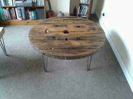 Industrial Reel Drum Coffee Table