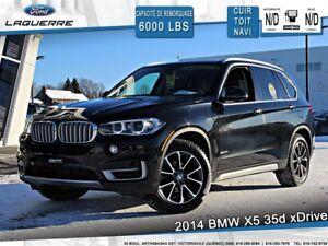 2014 BMW X5 35d xDrive**DIESEL**AWD*CUIR*TOIT*NAVI*CAMERA**