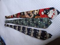 2 Wallace and Gromit Ties/one Silk plus 1 Bugs Bunny Tie excellent condition
