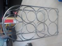 Metal Wine Rack - Holds 7 Bottles - Really Cheap £1 only - Collect PE27