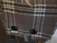 Eyelet Check curtains