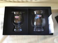 Darlington Crystal Whiskey Glass & Jug. 24% Lead Crystal. Made In England.