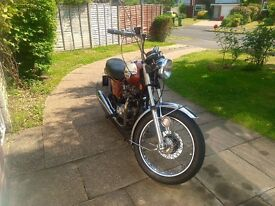 1976 USA spec Bonneville that has spent most of its life unused in the Garage. MOT'ed in March.