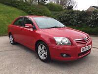 **TOYOTA AVENSIS T3-X 1.8 PETROL 5 DOOR HATCHBACK RED (2007 YEAR)**
