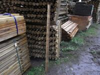 Timber fence post 50mm-75mmx1.65m
