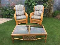 SOLD pending collection. FREE Sofa, 2 armchairs and coffee table set