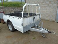 """7,6"""" x 5' ford ranger body on a trailer chassis"""