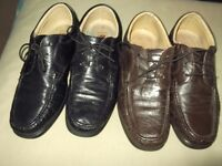 2 pairs mens shoes(black and brown)size 9,