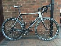 Stunning Cannondale SuperSix with matching Spinergy Deep Section Carbon Wheels