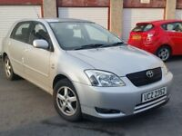 03 TOYOTA COROLLA **GREAT DRIVING MOTOR with MOT and 4 GREAT TYRES**