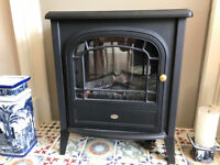 Freestanding electric stove fire