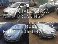 VAUXHALL CORSA 3/5 DOOR FROM 2006-ONWARDS OVER 20 IN STOCK BREAKING FOR SPARES