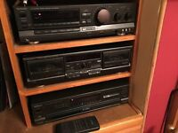 Technics Amp/tuner, double tape deck and rotary 5-changer CD