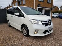 2013 NISSAN SERENA S-HYBRID HIGHWAY STAR 1990CC 8 SEATER AUTO PEARL WHITE VERY HIGH SPEC