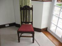 4 Carved Dark Oak Chairs