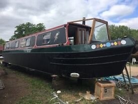 Harlequin, 50ft Narrow Boat /Narrowboat/Canal Boat - BSS Cert and Blacked May 2017 - ready to go!