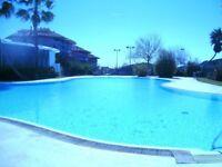 Luxury apartment, Benalmadena Pueblo, Costa Del Sol. 2 bed, 2 bath,sea/pool views. Near village