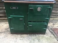 Aga esse Gas oven cooker green with extraction pipe