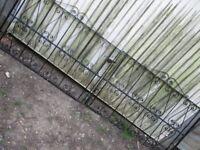 double iron garden gate