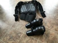 Motorcycle Protective under jacket Size Large by Wolf plus Knee Protectors