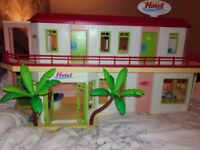 Playmobil large hotel. Loads of accessories. Really good condition.