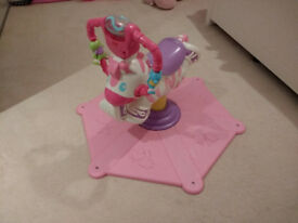 Fisher Price Pink Bounce and Spin Zebra Toy