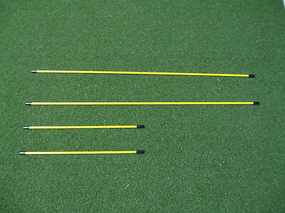 (Fiberglass - Golf Alignment sticks, used by pros- swing plain and putting gate)