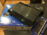PS3 Console 250gb drive, 2 controllers, remote control and 12 games-excellent condition xmas bargain