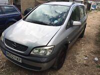 2002 Vauxhall Opel zafira 1.6 petrol 5 door 7 seater
