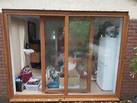 Brown quality Tilt upvc patio doors