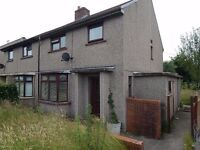 3 Bedroom semi detached unfurnished house in Cefn Hengoed good size rear garden