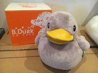Very cute Duck (grey) cuddly cd case