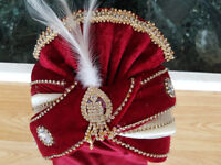 Turban, Pagri, Hat, Topi, Safa Indian Wedding Outfit