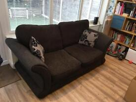 DFS 2 seater sofa black/brown
