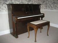 Kirkman upright piano in beautiful condition. Recently tuned and complete with piano stool. £300