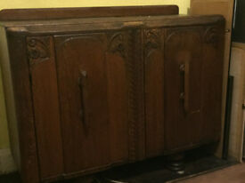 Decorative wooden sideboard
