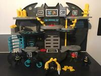 Imaginext DC Super Friends Batcave, bike, scuba and 3 figures