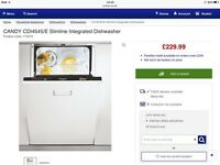 Slimline intergraded dishwasher