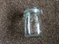 Large hand engraved storage jar pot