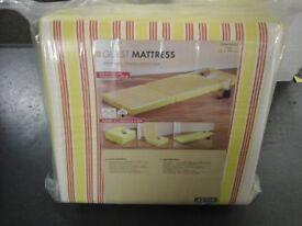 Brand new single folding guest bed matteress