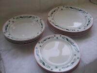 Christmas Holly 12 piece dinner service