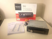 SONY CD CAR STEREO, MP3 - CDX-G2000UI - FRONT AUX INPUT - WITH BOX